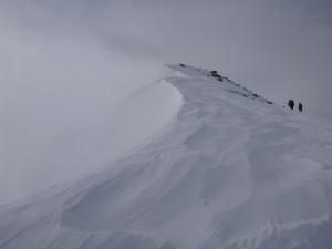頂上直下の登り